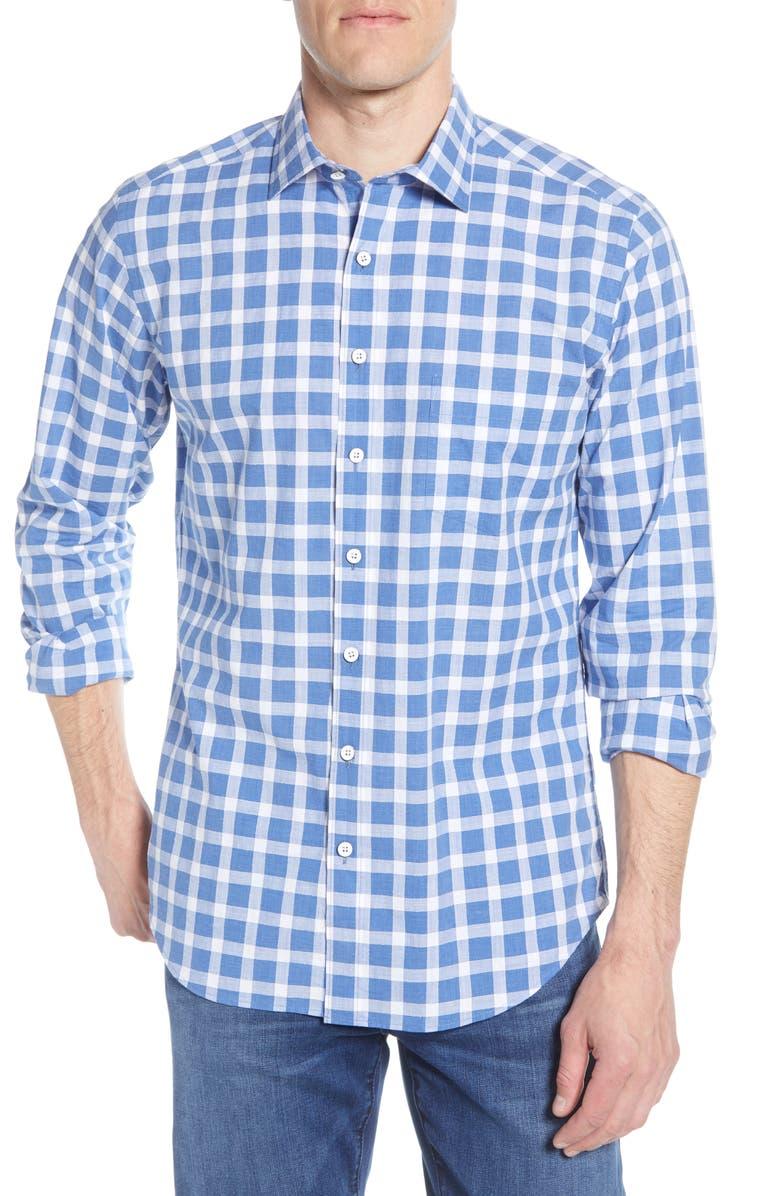 RODD & GUNN Eiffletonv Regular Fit Gingham Button-Up Shirt, Main, color, 435
