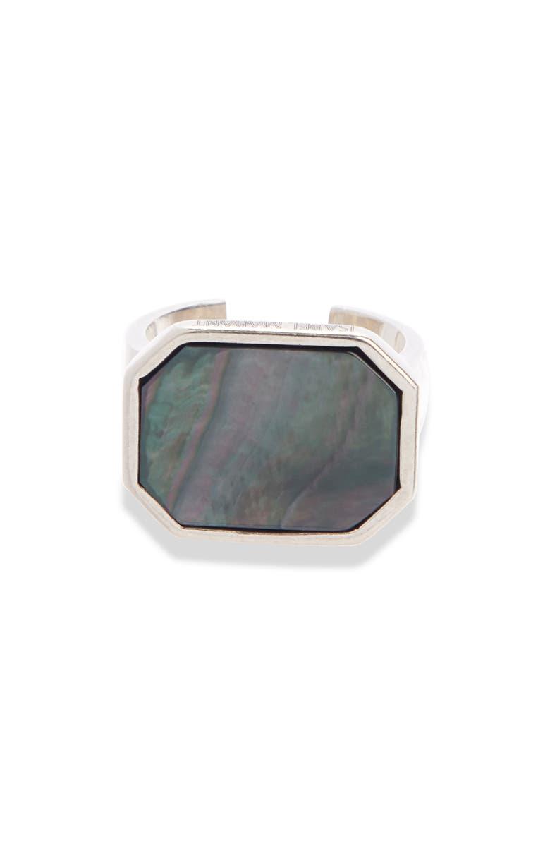 ISABEL MARANT Bague Signet Ring, Main, color, GREY/ SILVER
