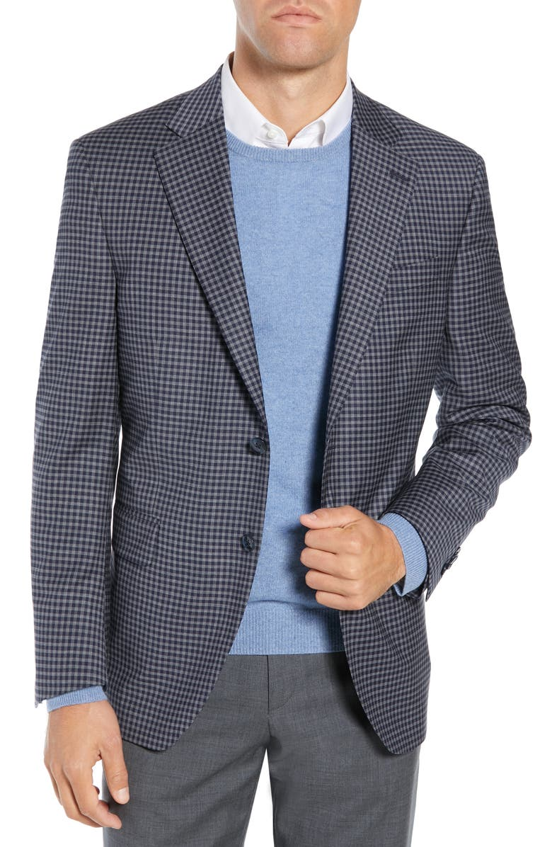 PETER MILLAR Flynn Classic Fit Check Wool Sport Coat, Main, color, 410