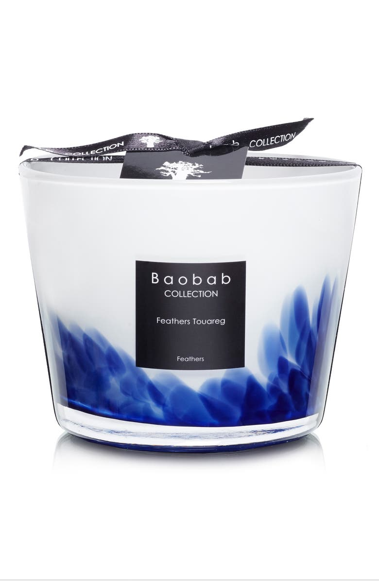 BAOBAB COLLECTION Feathers Touareg Candle, Main, color, TOUAREG- SMALL