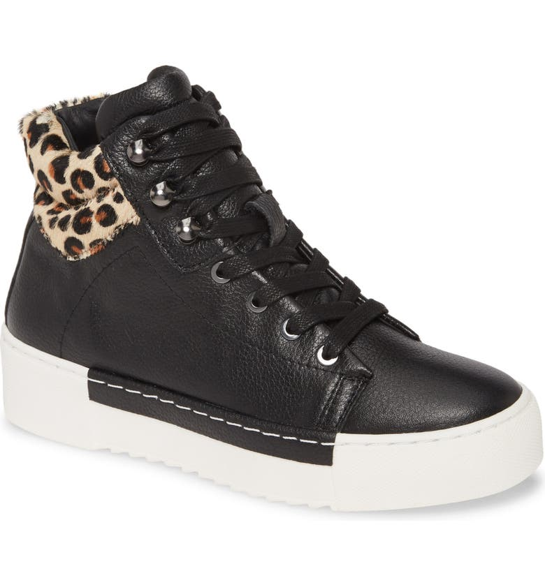 CECELIA NEW YORK Silow Platform Lace-Up Sneaker, Main, color, BLACK LEOPARD LEATHER