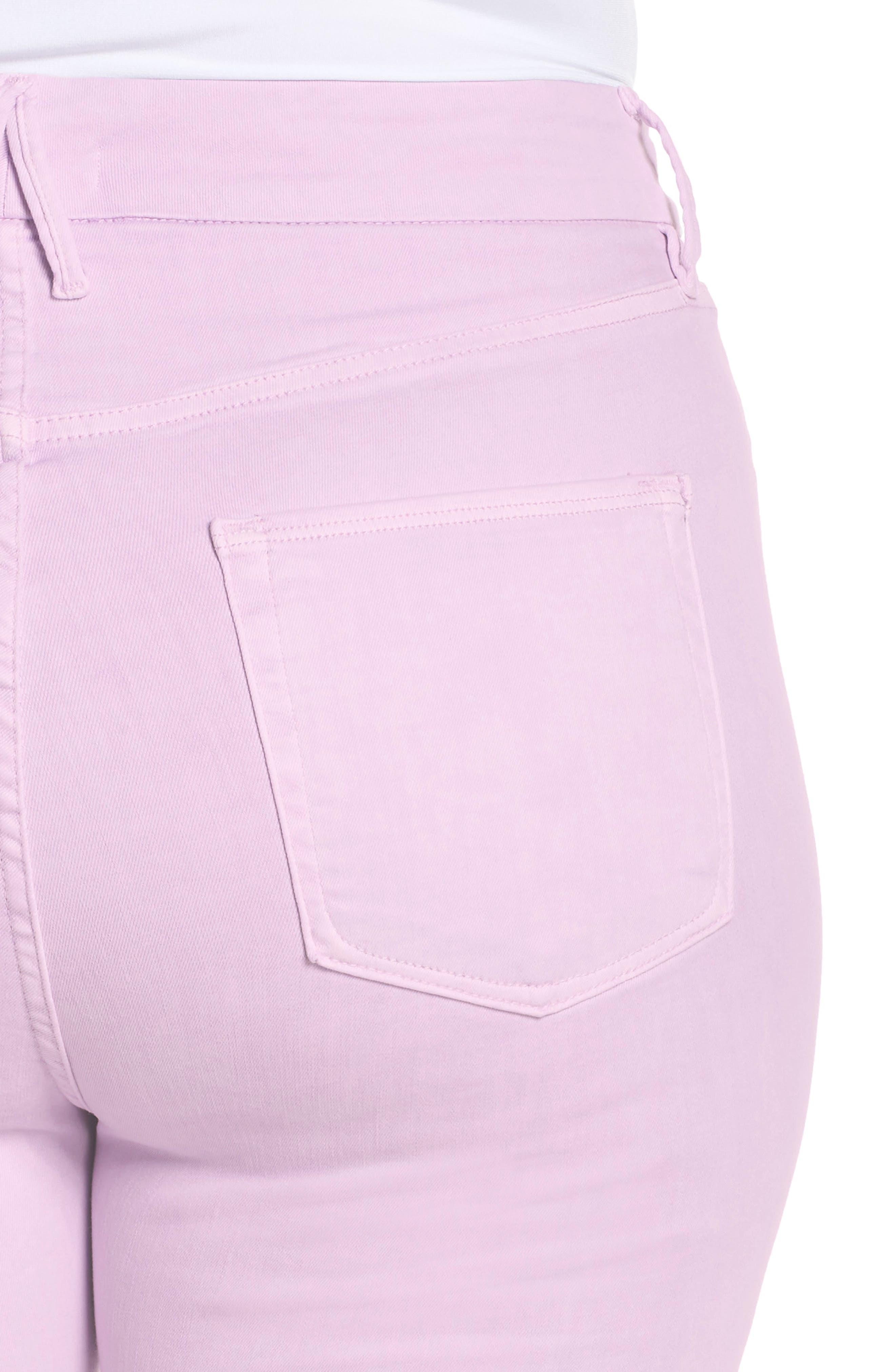 ,                             Good Legs High Waist Crop Skinny Jeans,                             Alternate thumbnail 5, color,                             LAVENDER001