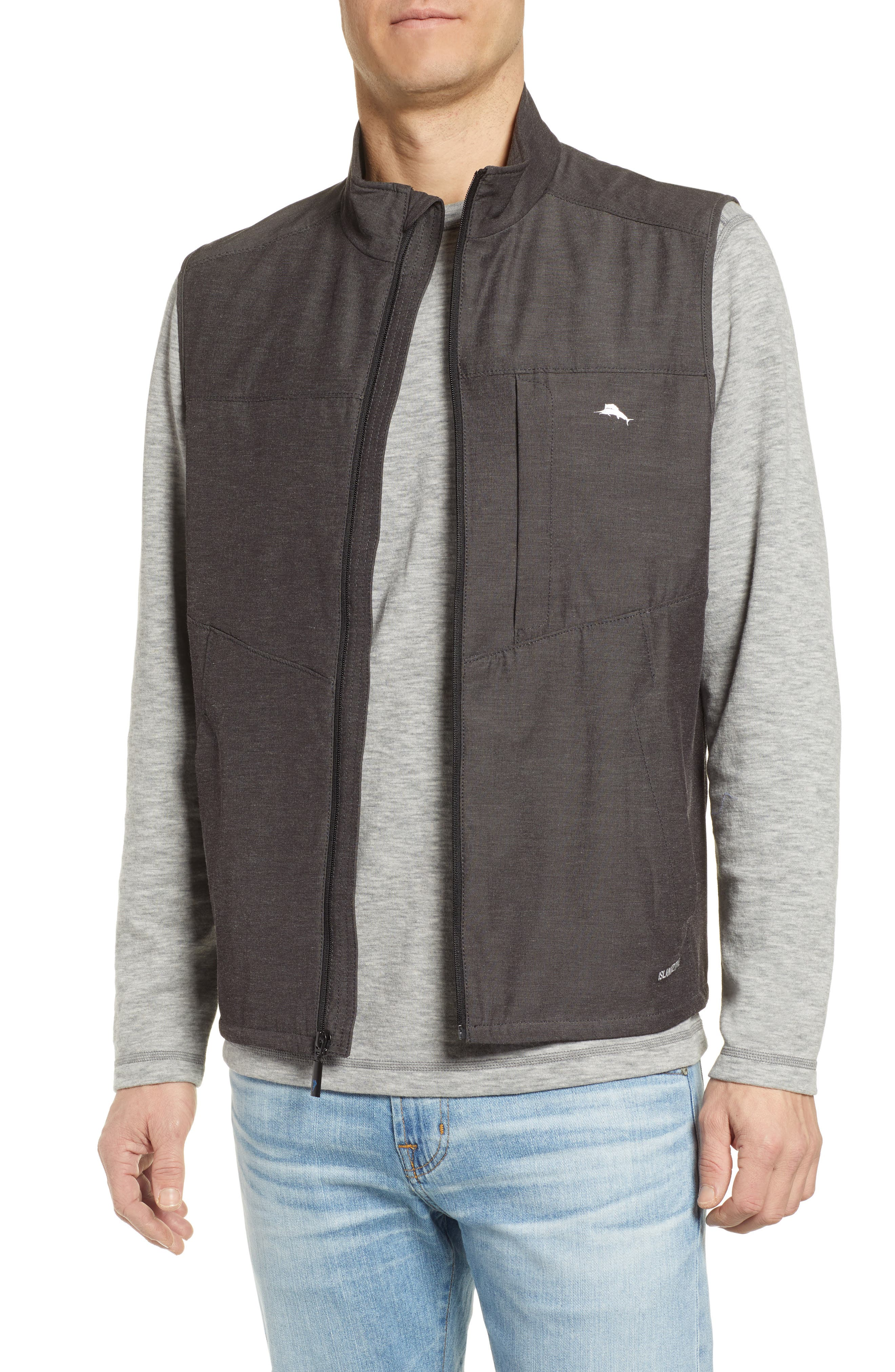 Tommy Bahama Chip And Run Vest, Grey