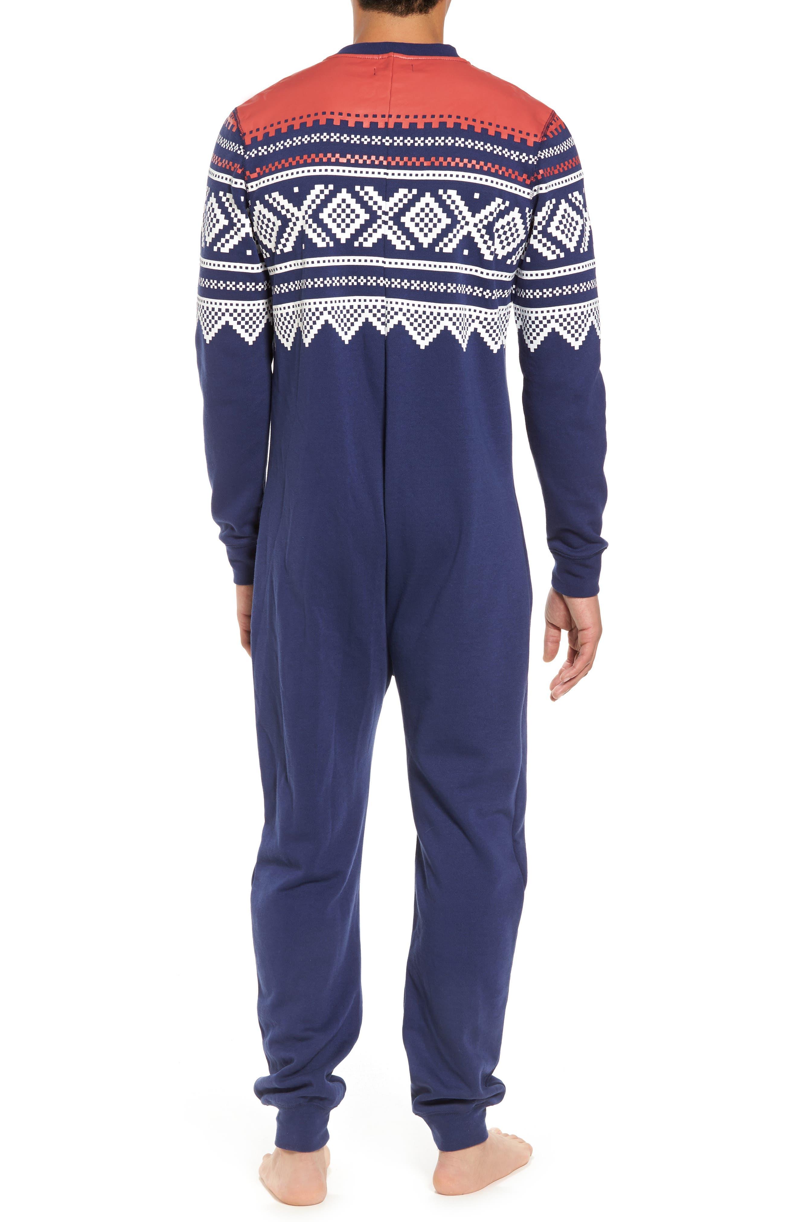 ,                             Fleece One-Piece Pajamas,                             Alternate thumbnail 2, color,                             040