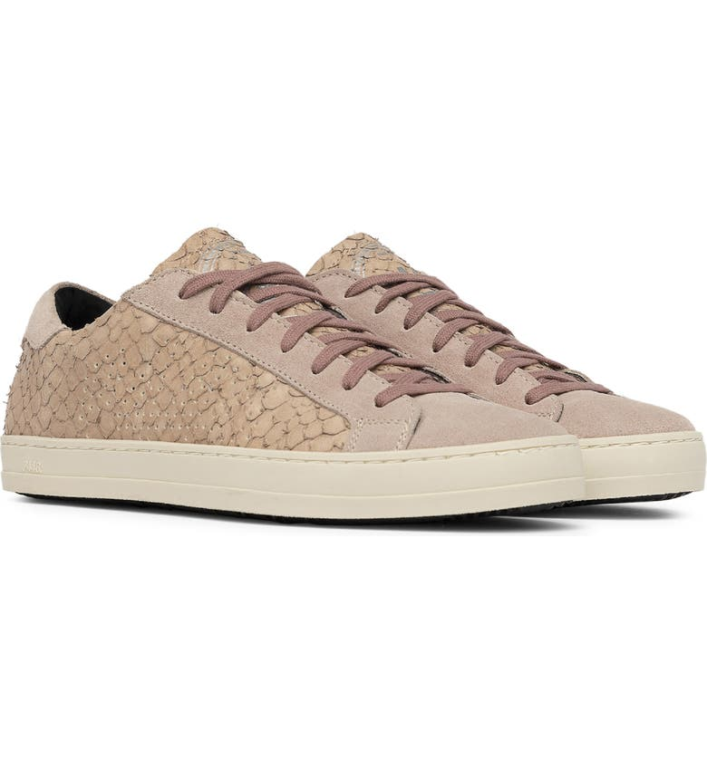 P448 John Snake Embossed Low Top Sneaker, Main, color, PINK PYTHON PRINT