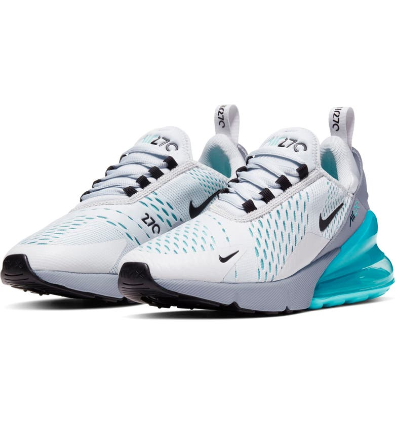 NIKE Air Max 270 Sneaker, Main, color, PURE PLATINUM/BLACK-WOLF GREY