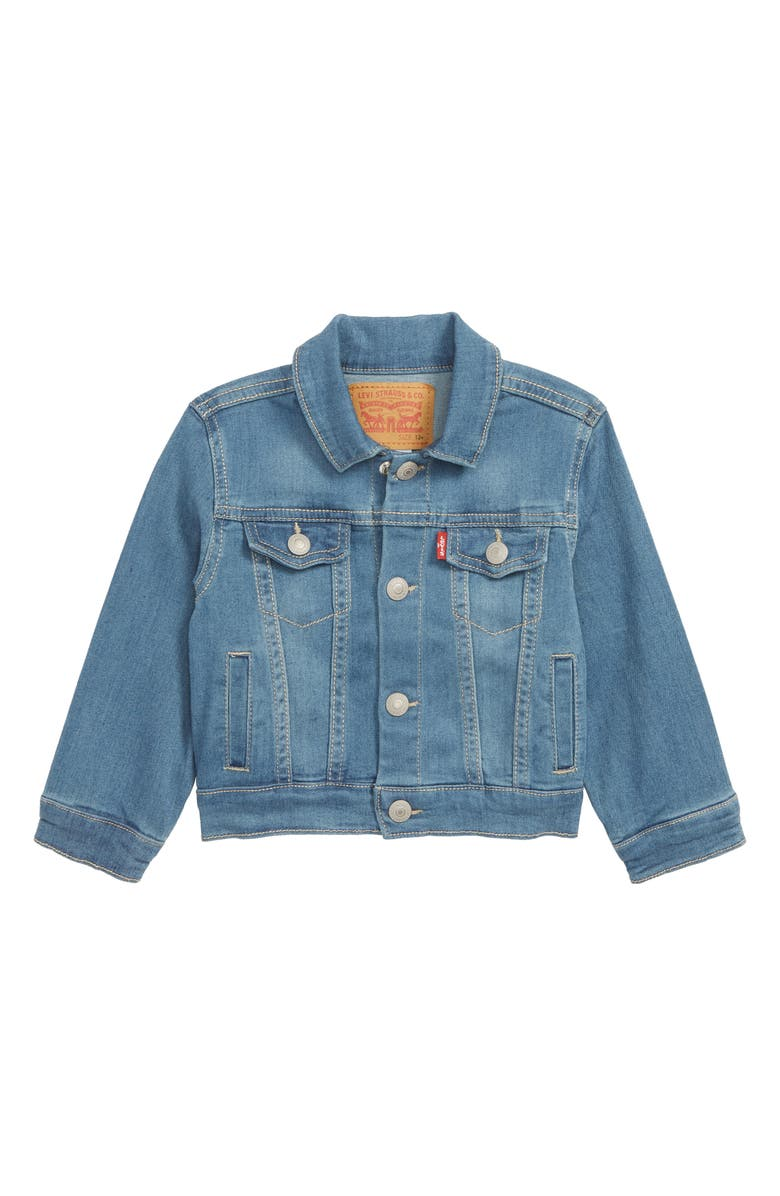 LEVI'S<SUP>®</SUP> Denim Trucker Jacket, Main, color, SEA SALT