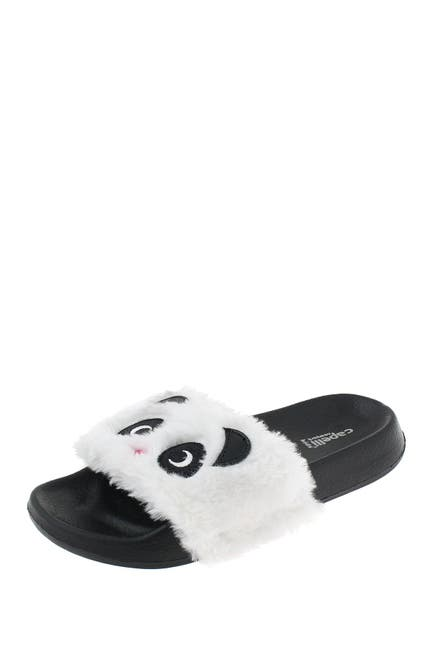 Image of CAPELLI OF NEW YORK Panda 3D Faux Fur Slide Sandal