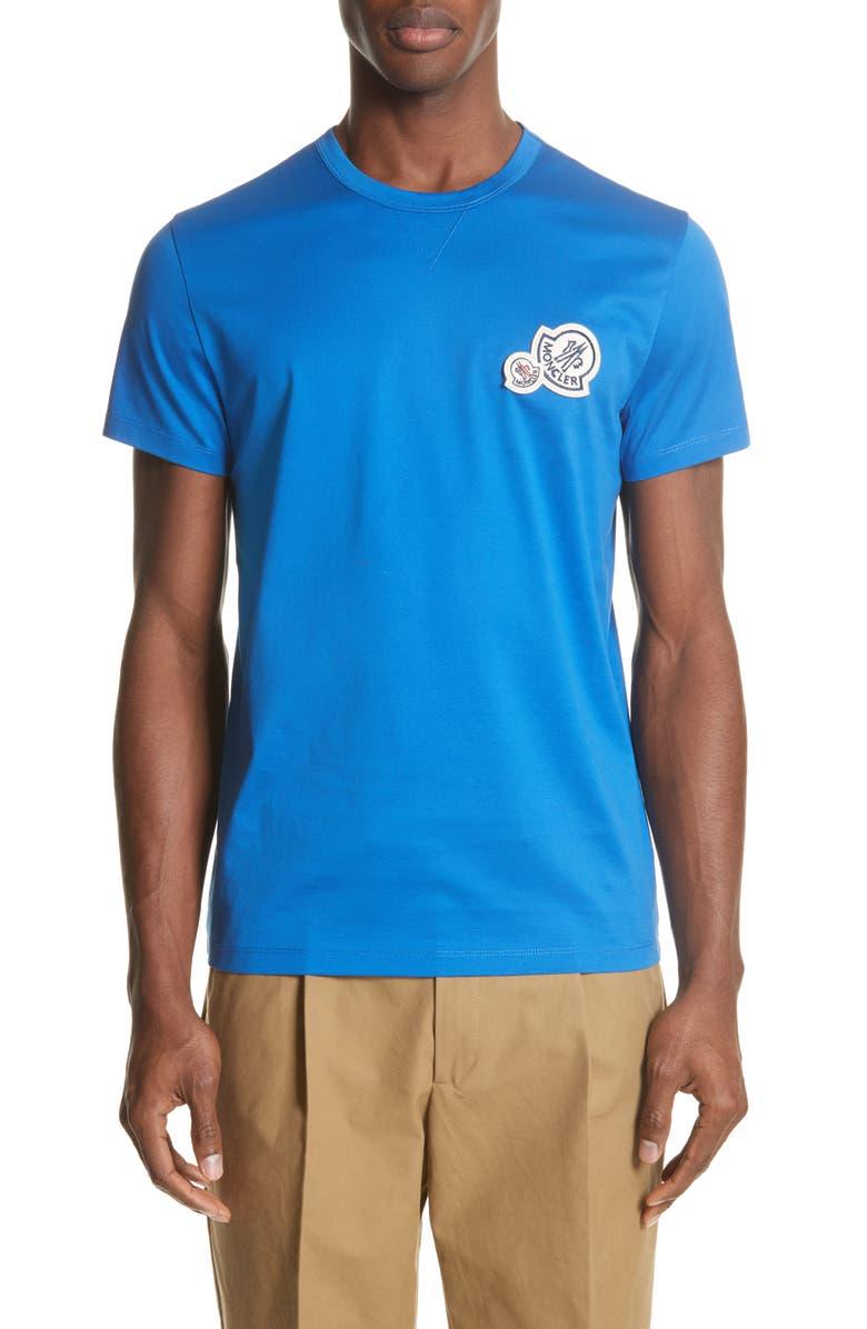 MONCLER Maglia Double Logo T-Shirt, Main, color, 400