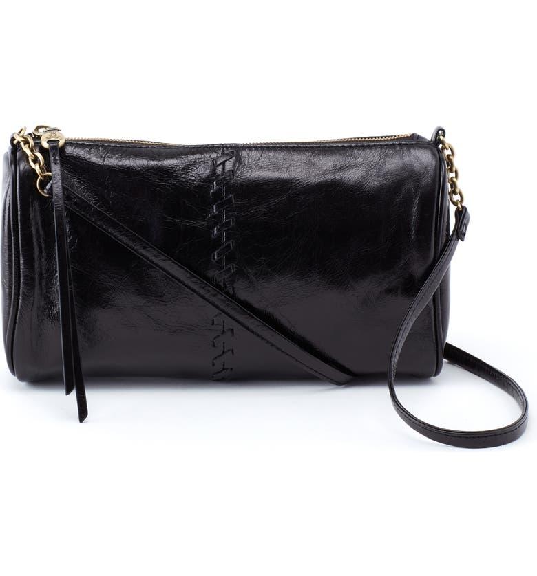 HOBO Topaz Leather Crossbody Bag, Main, color, 001