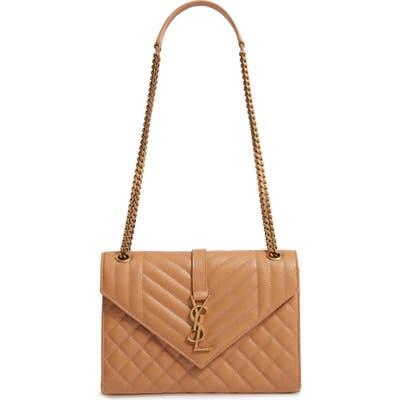 Saint Laurent Medium Cassandra Envelope Bag - Brown