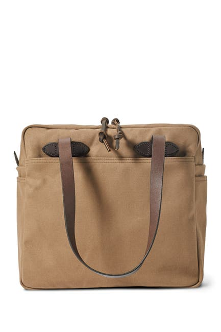 Image of Filson Rugged Twill Tote Bag with Zipper
