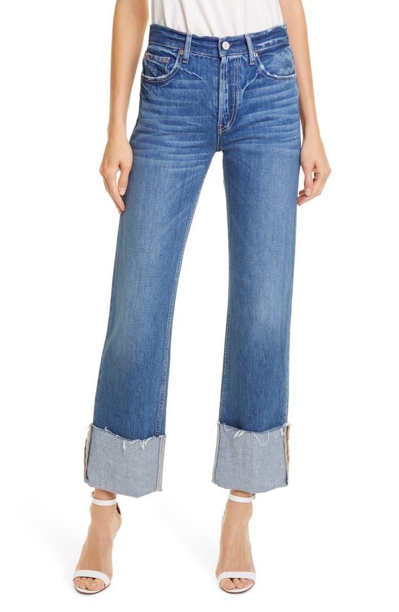 TRAVE Blake High Waist Straight Leg Jeans, Main, color, SANTA MONICA