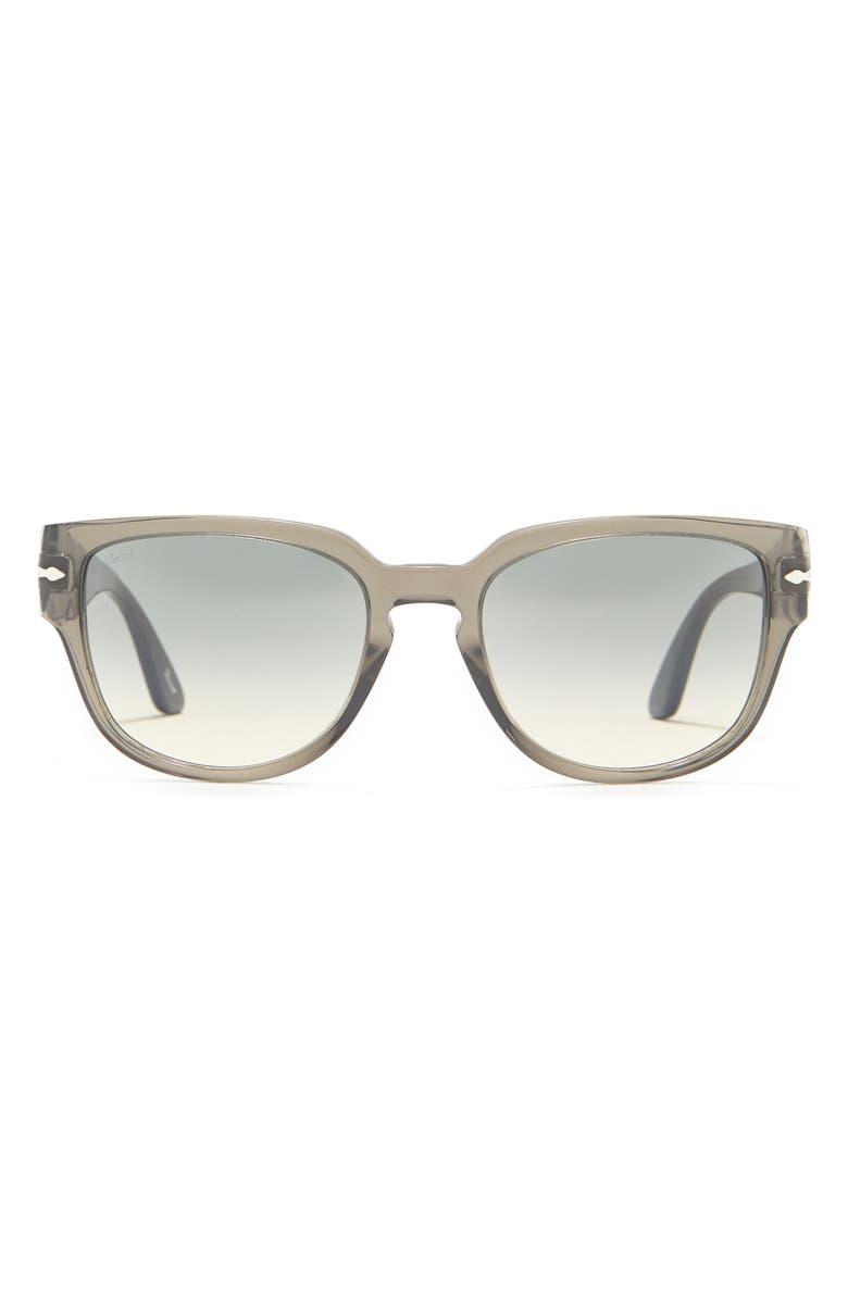PERSOL 54mm Square Sunglasses, Main, color, GREY