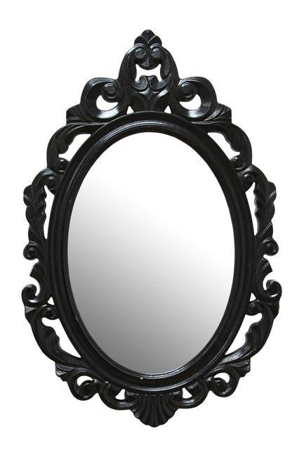 Image of Stratton Home Black Baroque Mirror