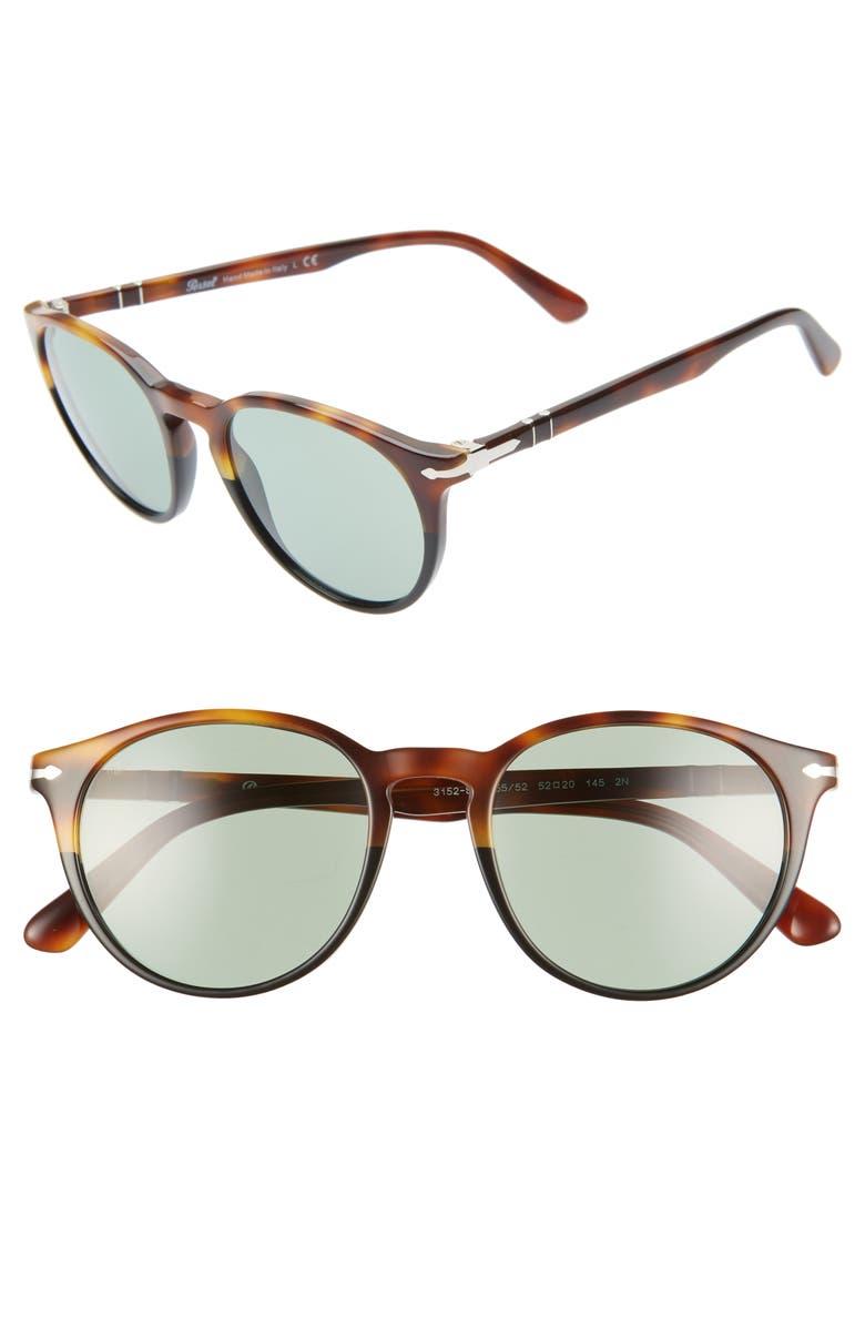 PERSOL 52mm Round Sunglasses, Main, color, 200