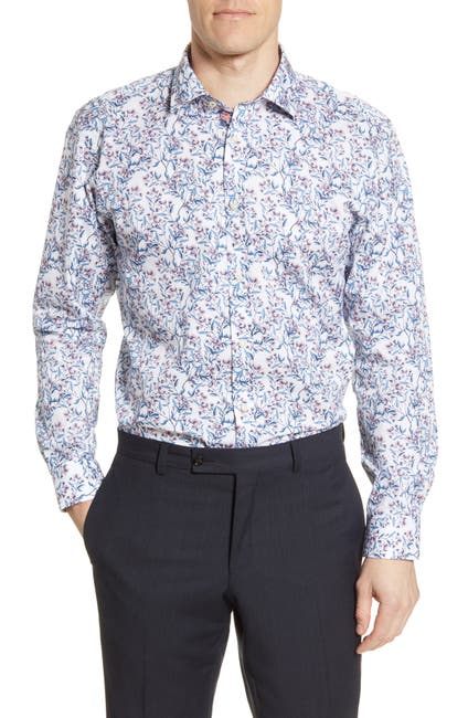 Image of Ted Baker London Floral Print Trim Fit Dress Shirt