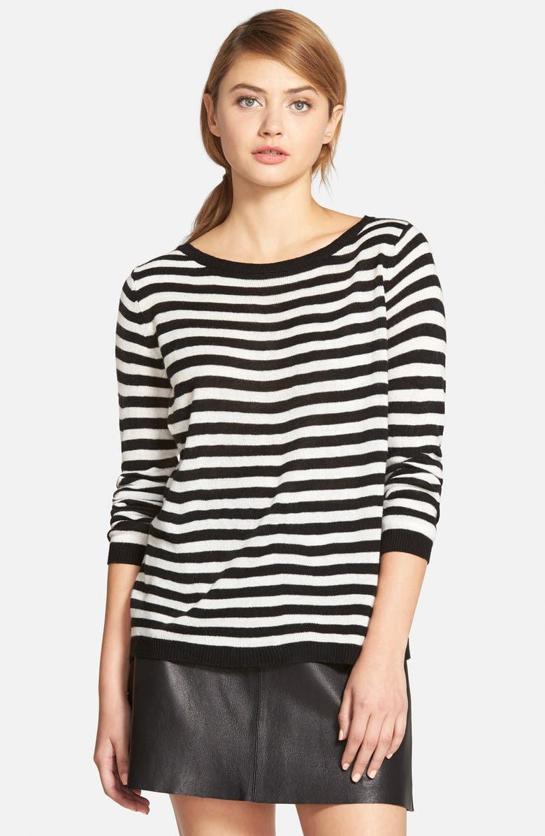 CUPCAKES AND CASHMERE 'Marina' Stripe Sweater, Main, color, 001