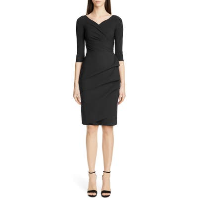 Chiara Boni La Petite Robe Florien Ruched Cocktail Dress, 50 IT - Black