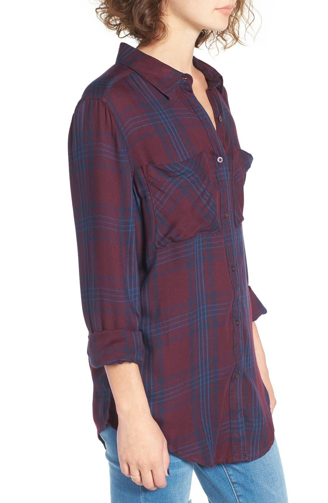 ,                             Plaid Tunic Shirt,                             Alternate thumbnail 53, color,                             930