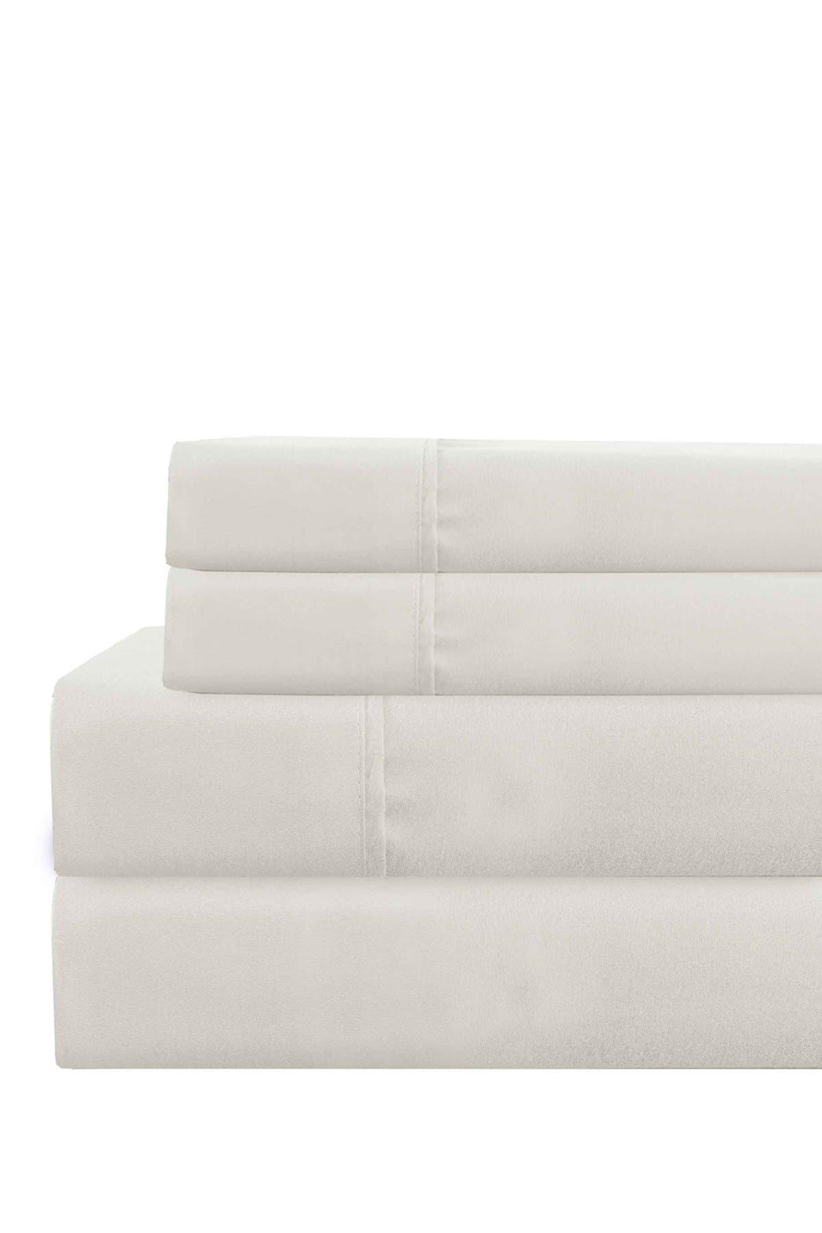 Image of Modern Threads Full Deep Pocket Ultra Soft Solid Sheet Set - White