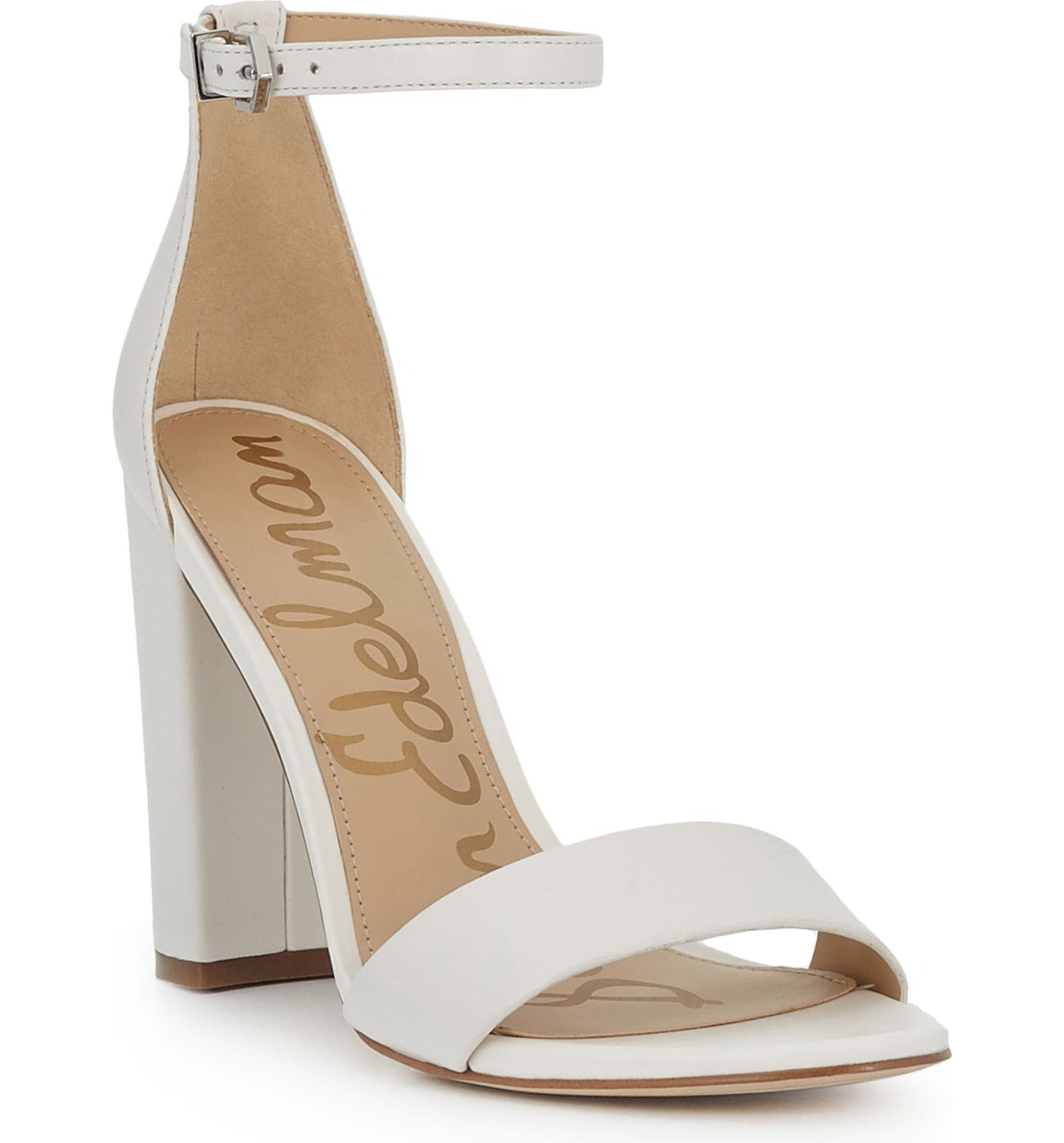 Yaro Ankle Strap Sandal, Main, color, BRIGHT WHITE LEATHER