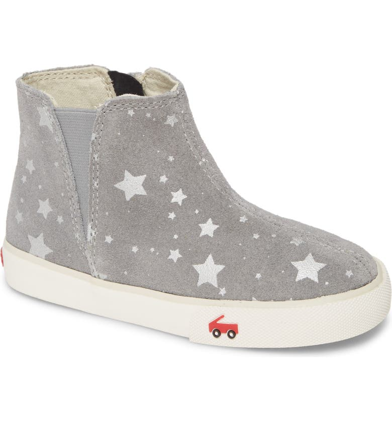 SEE KAI RUN Keegan Bootie, Main, color, GRAY SUEDE STARS