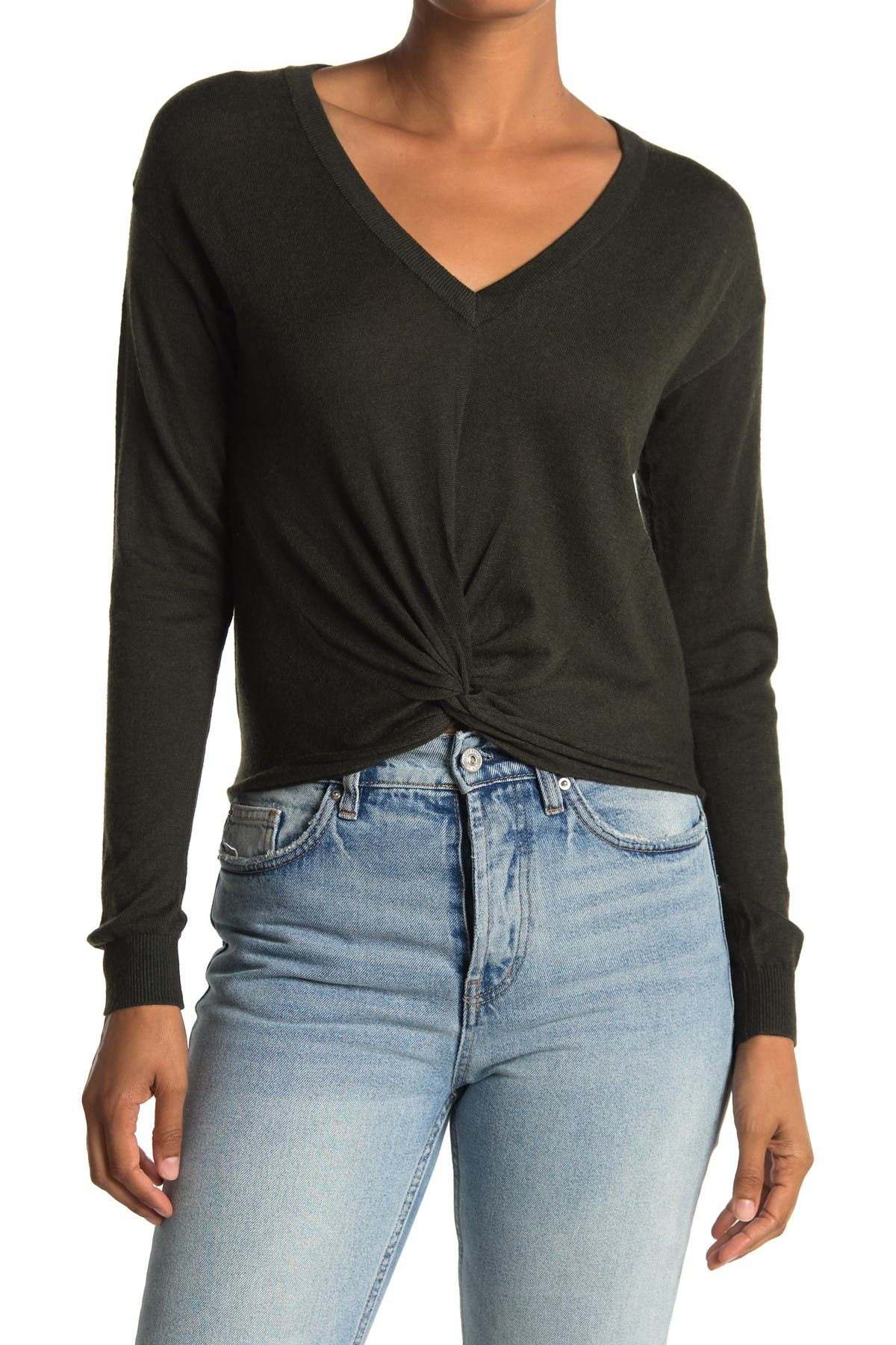 Image of Heartloom Twist Front V-Neck Sweater