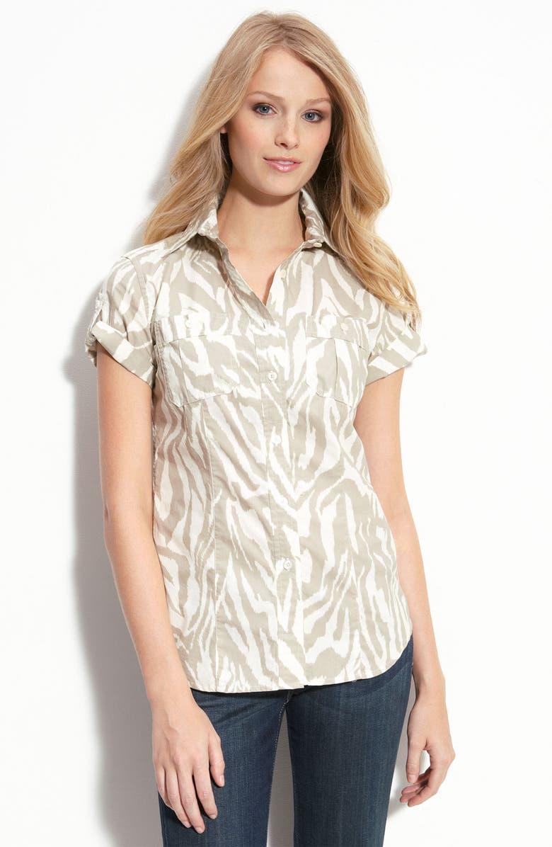 MICHAEL MICHAEL KORS Zebra Print Shirt, Main, color, 900