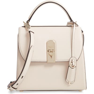 Salvatore Ferragamo Medium Leather Top Handle Bag - Ivory