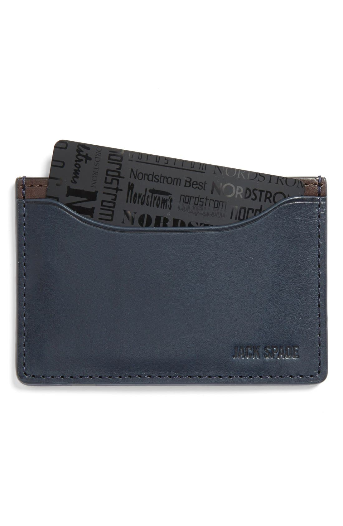 ,                             'Mitchell' Leather Card Holder,                             Main thumbnail 7, color,                             424