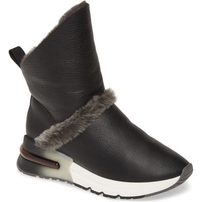 Ash Klima Genuine Shearling Boot, Black