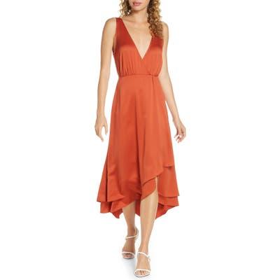 French Connection Alessia Sleeveless Midi Dress, Orange
