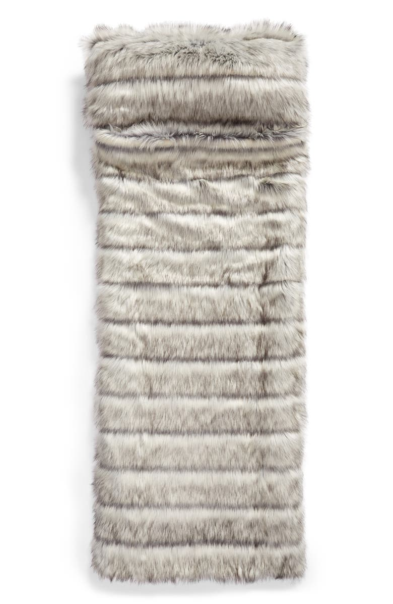 NORDSTROM at Home Luxe Faux Fur Slumber Bag, Main, color, 021