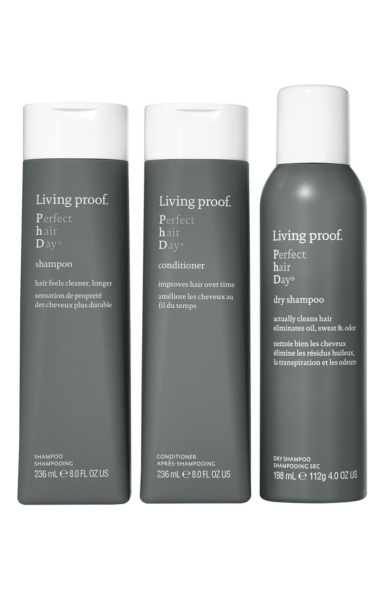 LIVING PROOF<SUP>®</SUP> Full Size Perfect hair Day<sup>™</sup> Shampoo, Conditioner & Dry Shampoo Set, Main, color, 000