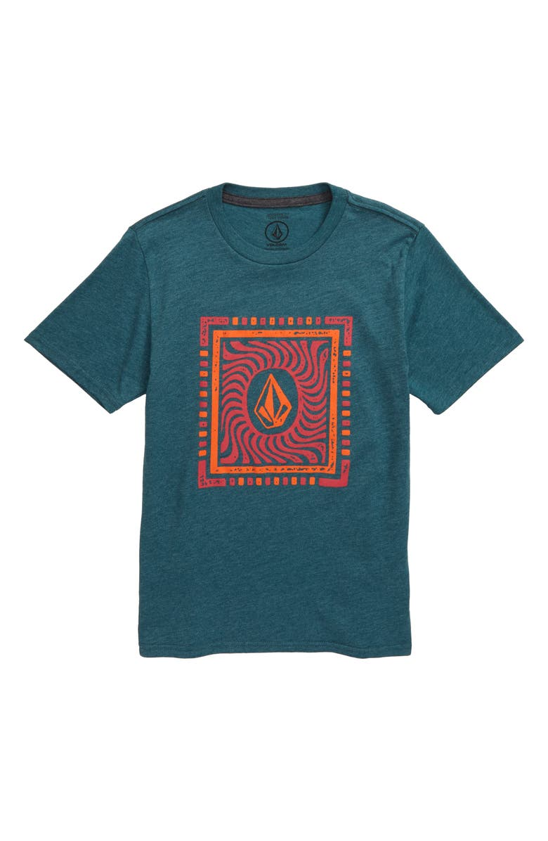 VOLCOM Stone Dash Graphic T-Shirt, Main, color, MEDITERRANEAN