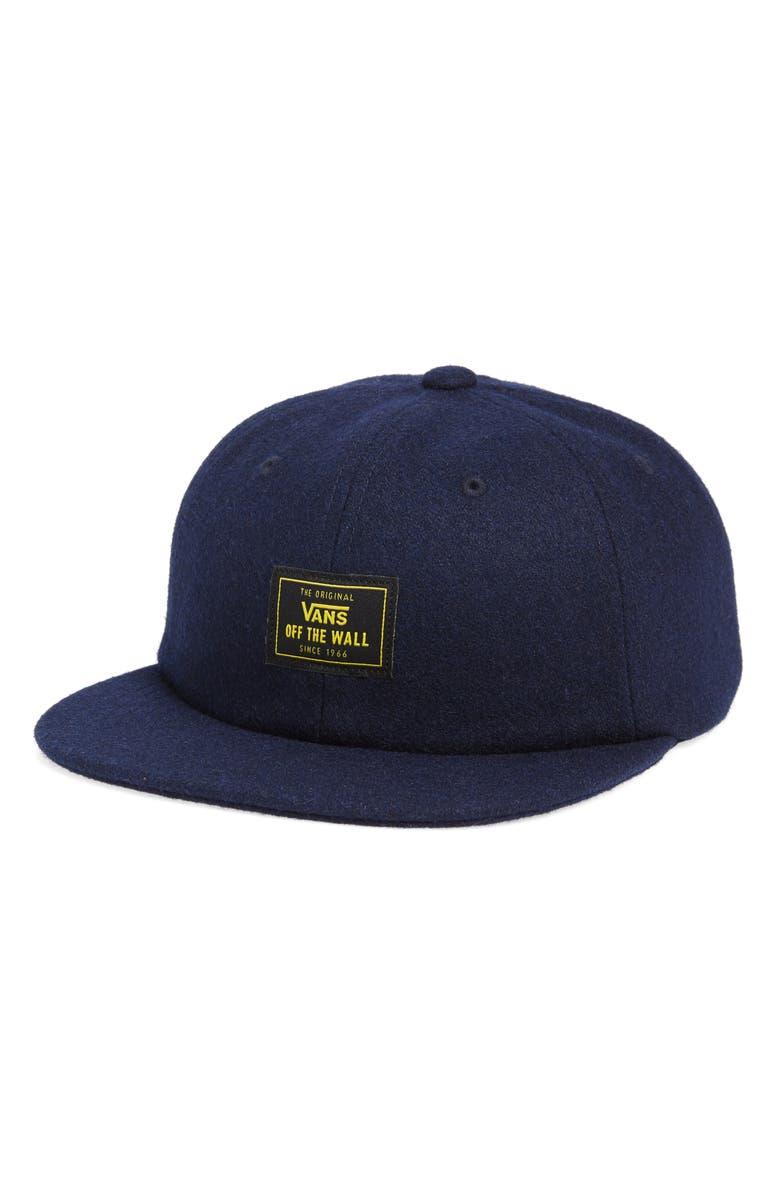 VANS Buckner Vintage Unstructured Baseball Hat, Main, color, DRESS BLUES