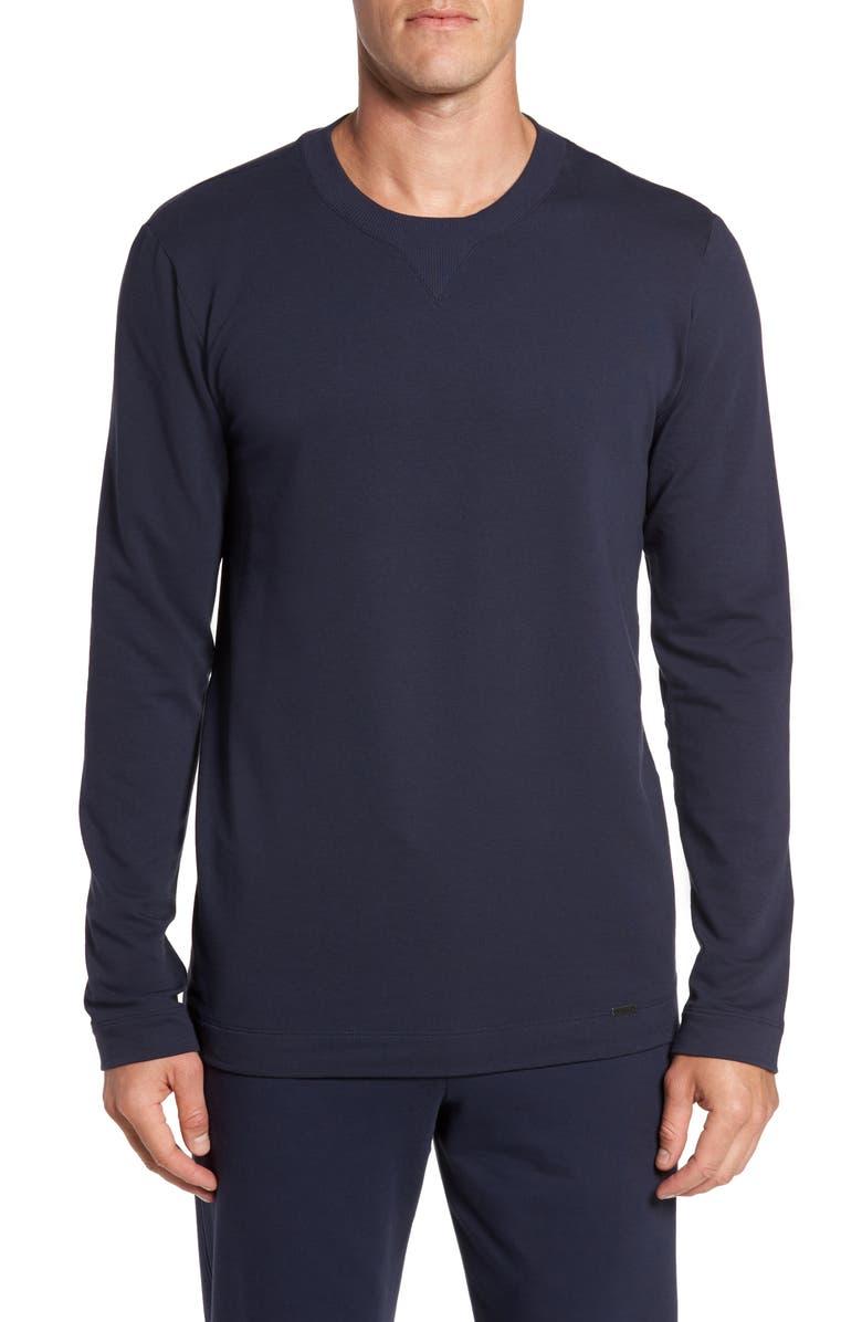 HANRO Living Pullover, Main, color, BLACK IRIS