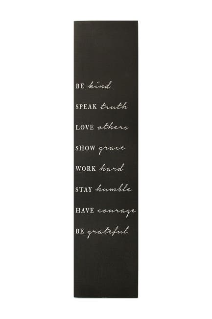 Image of Stratton Home Black Be Kind Oversized Wall Art