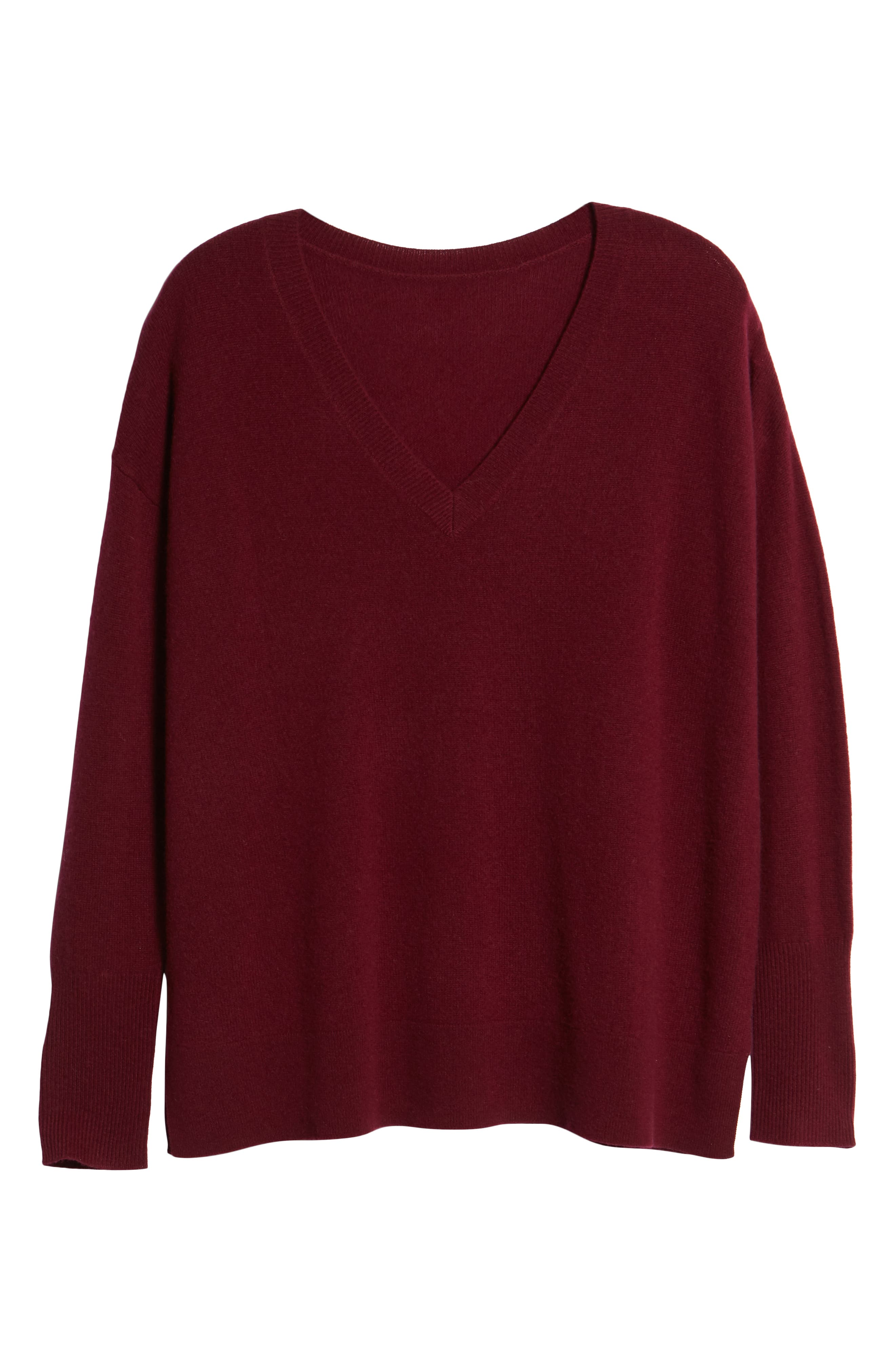 ,                             Relaxed V-Neck Cashmere Sweater,                             Alternate thumbnail 76, color,                             930