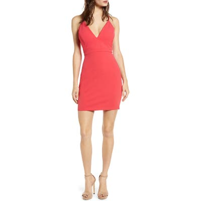 Love, Nickie Lew Illusion Detail Body-Con Dress