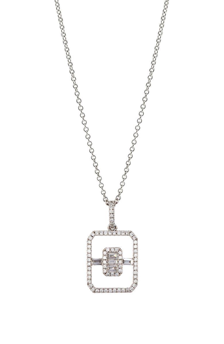 BONY LEVY Diamond Open Shape Pendant Necklace, Main, color, 711