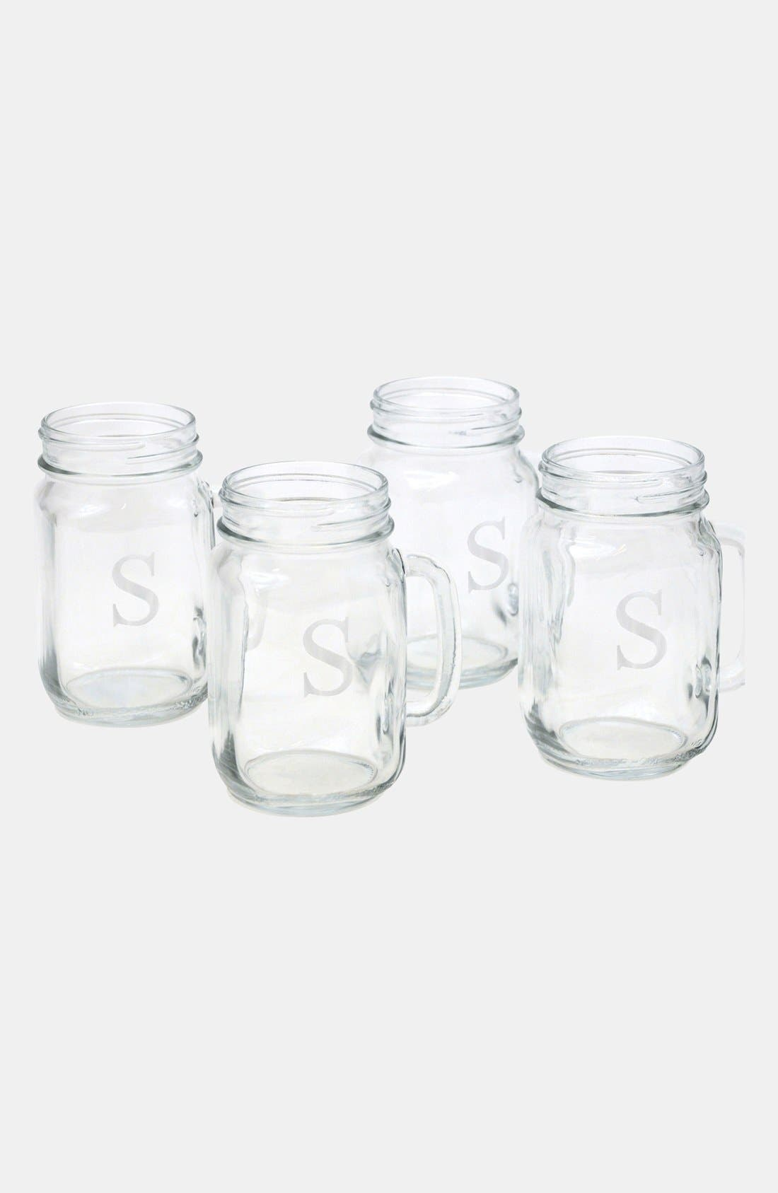 ,                             Monogram Glass Drinking Jars,                             Alternate thumbnail 60, color,                             978