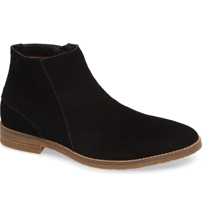 JUMP Brighton Chelsea Zip Boot, Main, color, BLACK