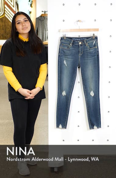 Suzy Distressed Crop Skinny Jeans, sales video thumbnail