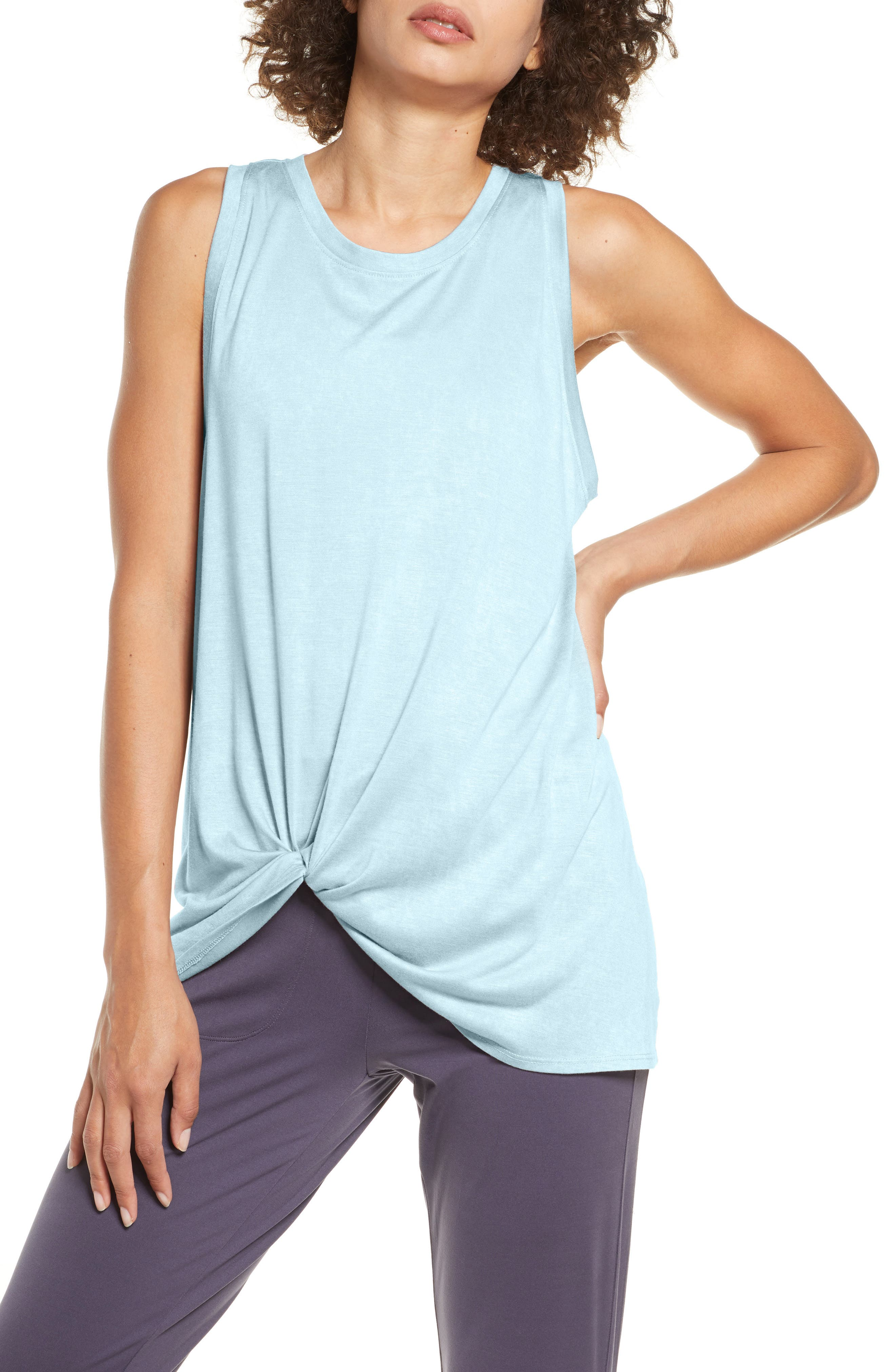 Styled with a built-in front tuck, this hazy-washed tank keeps you cool from gym to street. Style Name: Zella Tuck Front Tank Top. Style Number: 5935784. Available in stores.