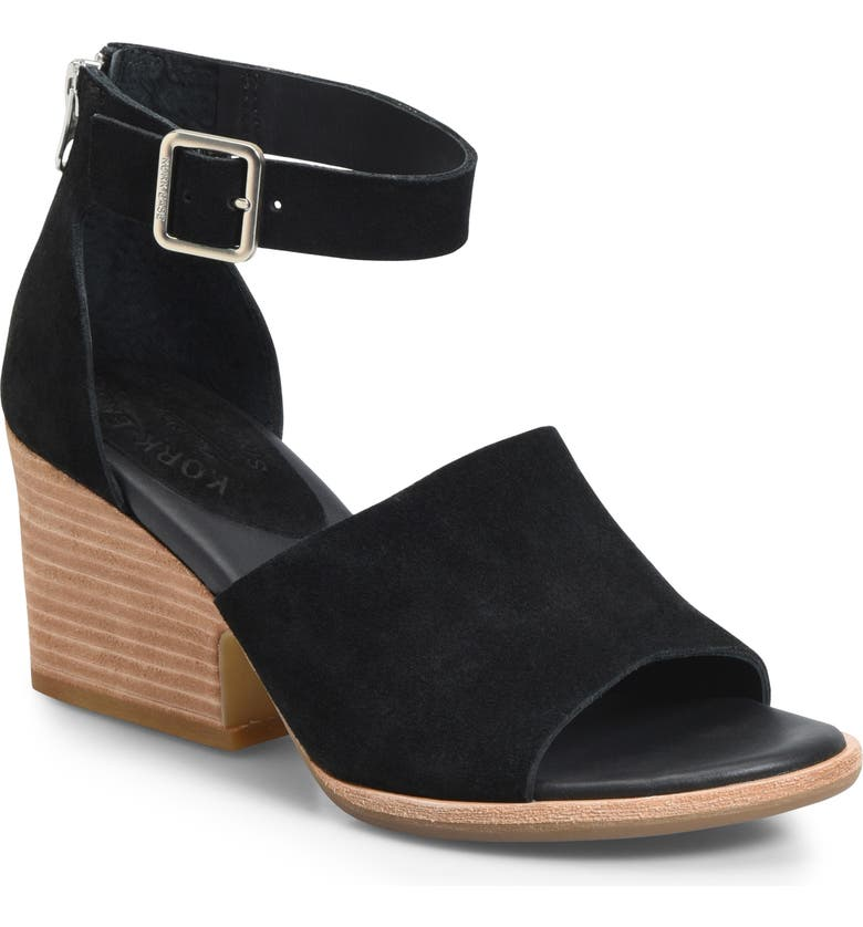 KORK-EASE<SUP>®</SUP> Gazania Sandal, Main, color, BLACK SUEDE