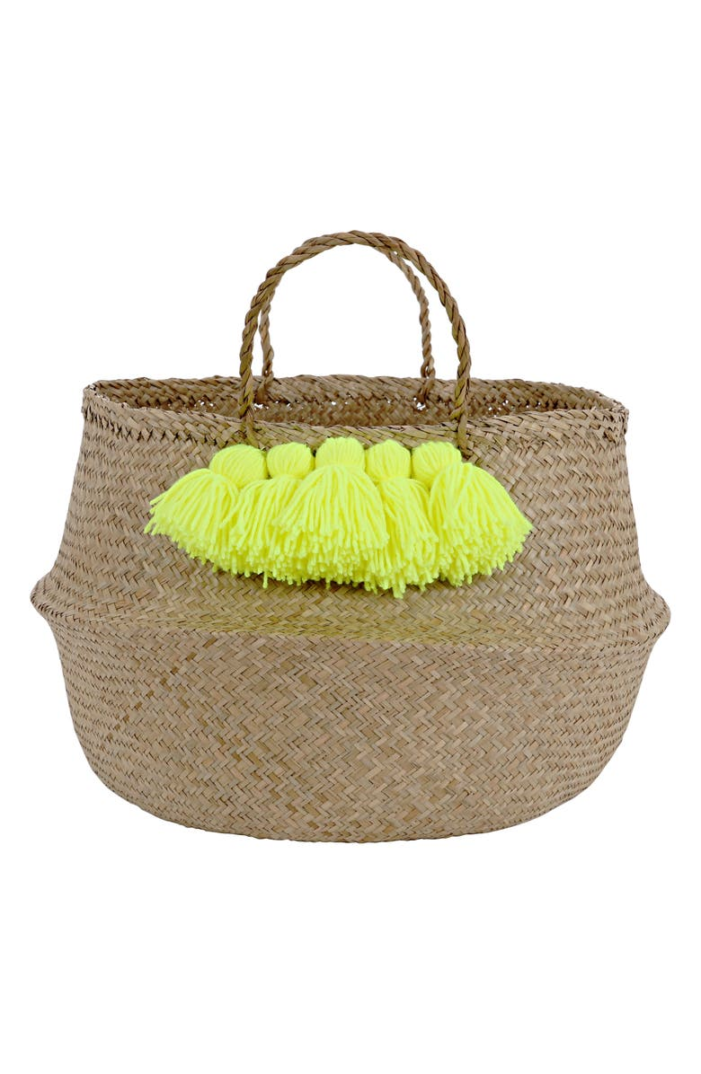 MERI MERI Tassel Basket, Main, color, YELLOW