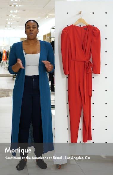 Long Sleeve Wrap Front Jumpsuit, sales video thumbnail