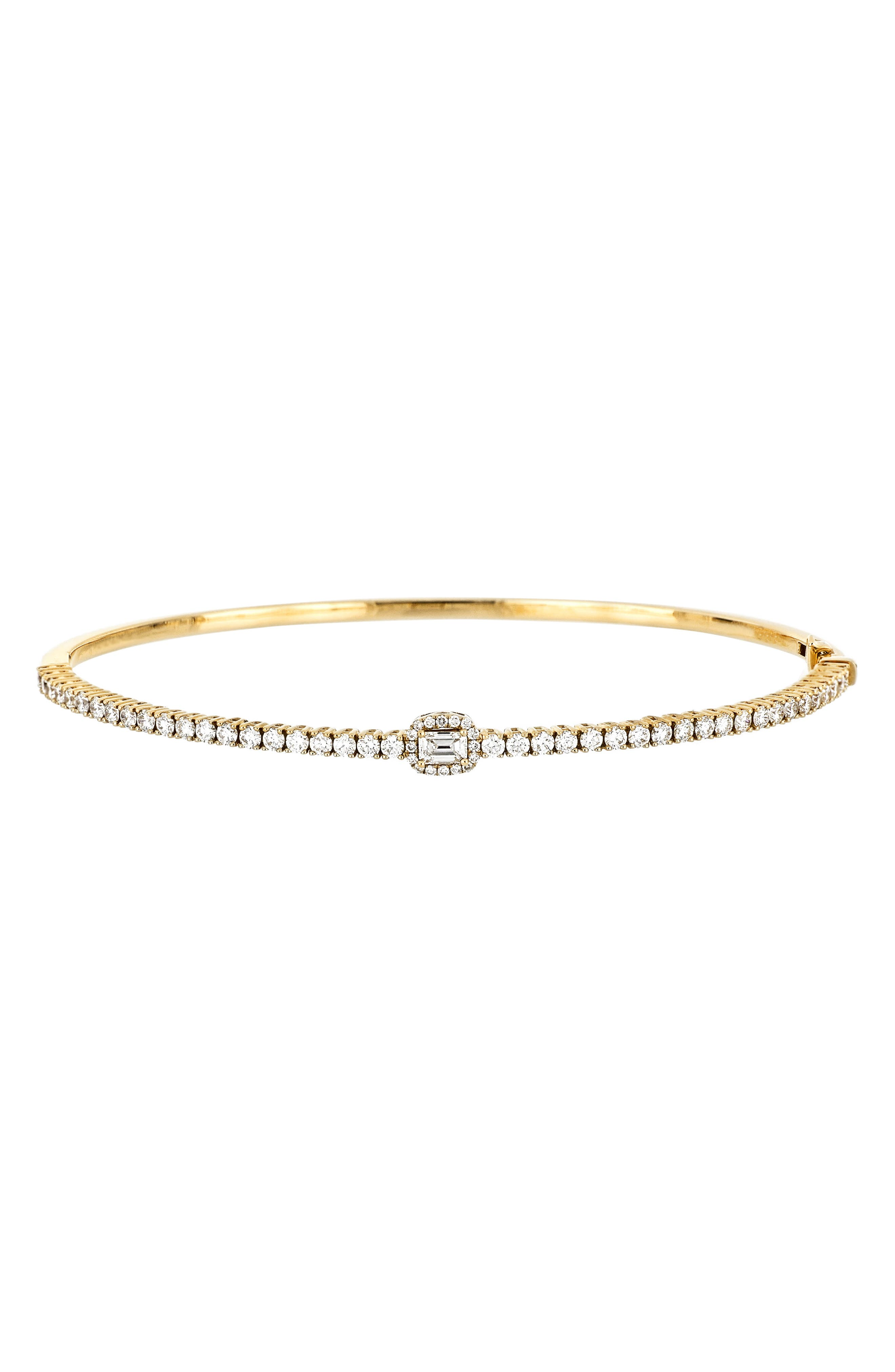Part of our Bony Levy Trunk Show, this Nordstrom-exclusive style is available for a limited time through August 30, online only.A haloed baguette diamond sparkling at the center of a pave line furthers the deco aesthetic of this versatile, stackable bangle handcrafted in 18-karat gold. Style Name: Bony Levy Gatsby Stackable Bangle (Trunk Show Exclusive). Style Number: 6108904. Available in stores.